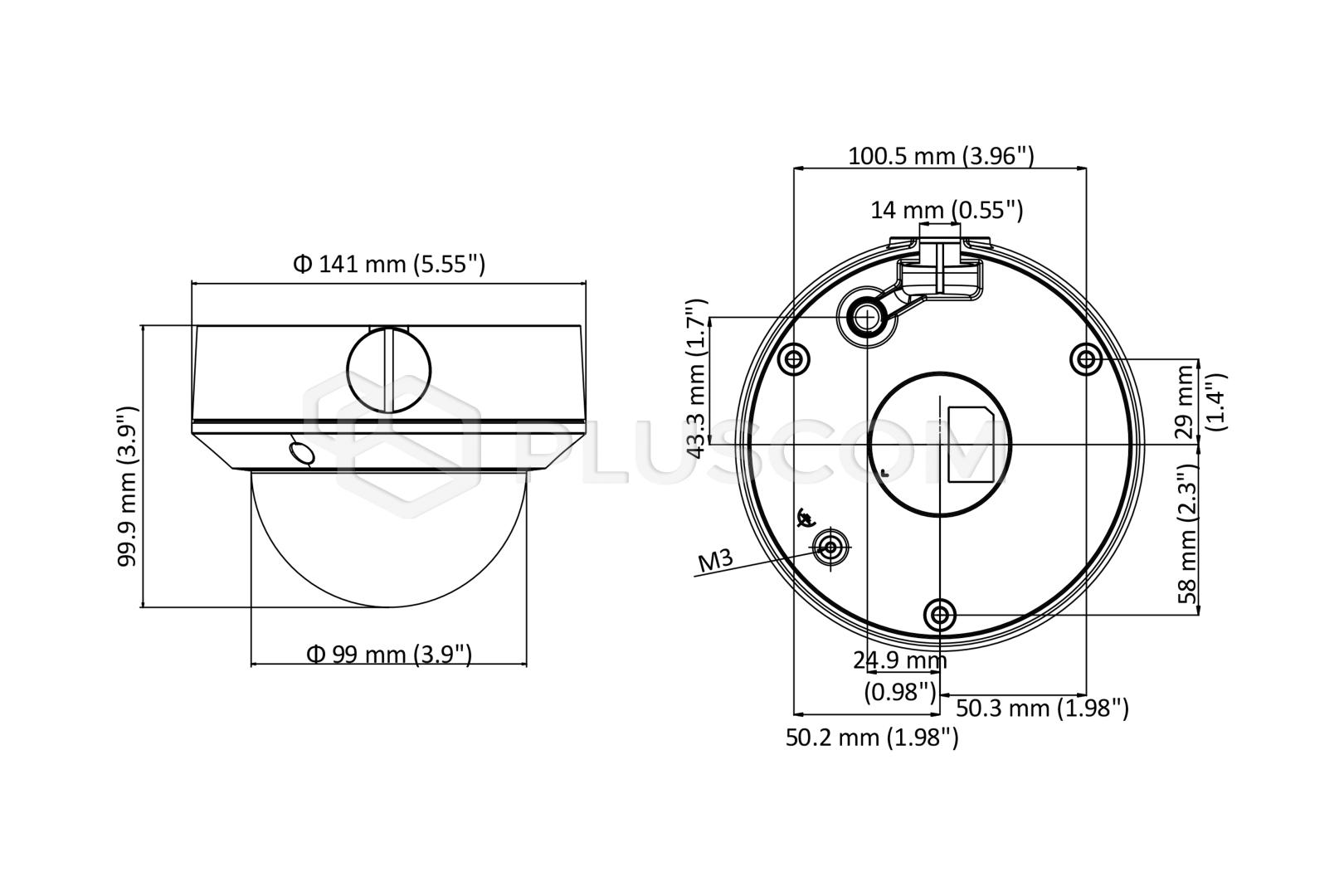 Resultado de imagen para DS-2CD1743G0- IZ (2.8-12mm) dimensiones