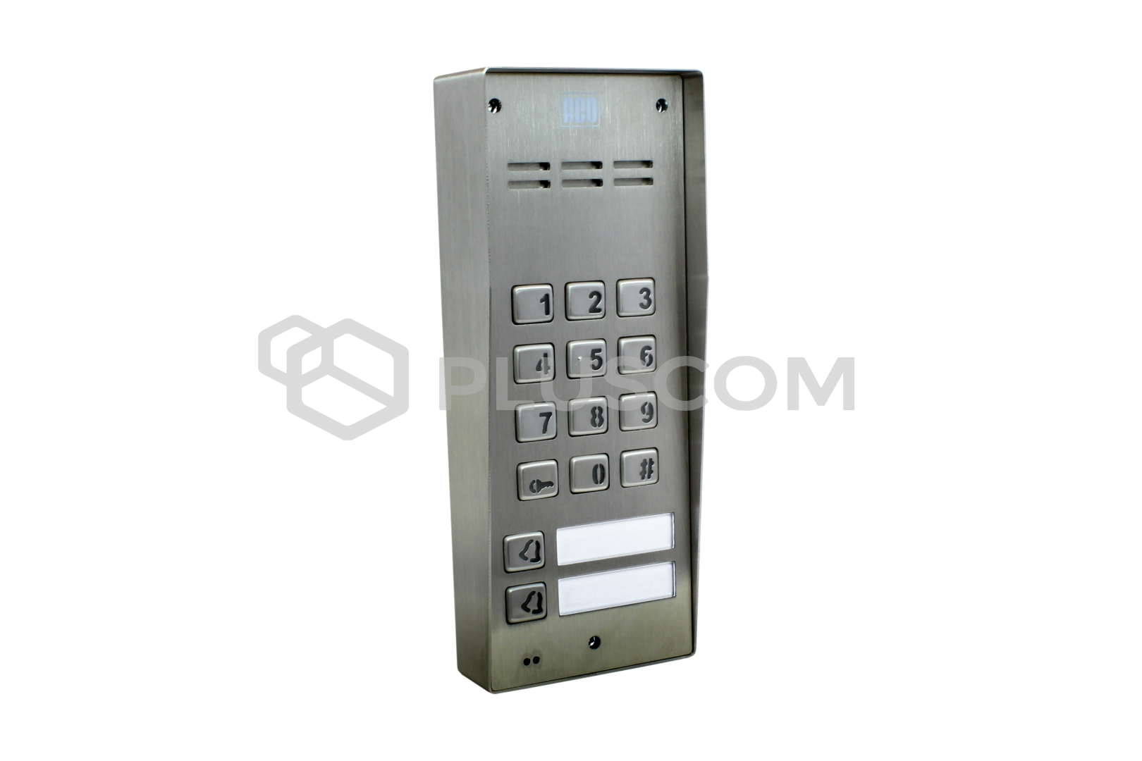 fam p 2npzs nt two family digital door entry panel with keypad. Black Bedroom Furniture Sets. Home Design Ideas