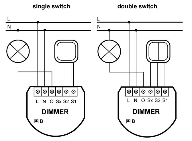 fibaro dimmer 500w fibaro universal dimmer 500w 3 wire connection