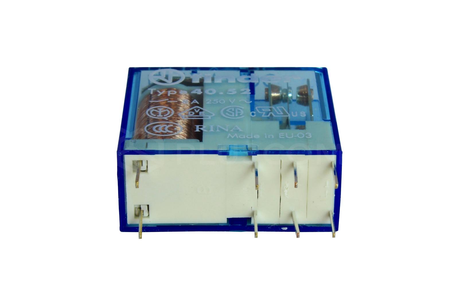 Finder 4052 Relay Coil Dc 12v Dpdt In Multisim