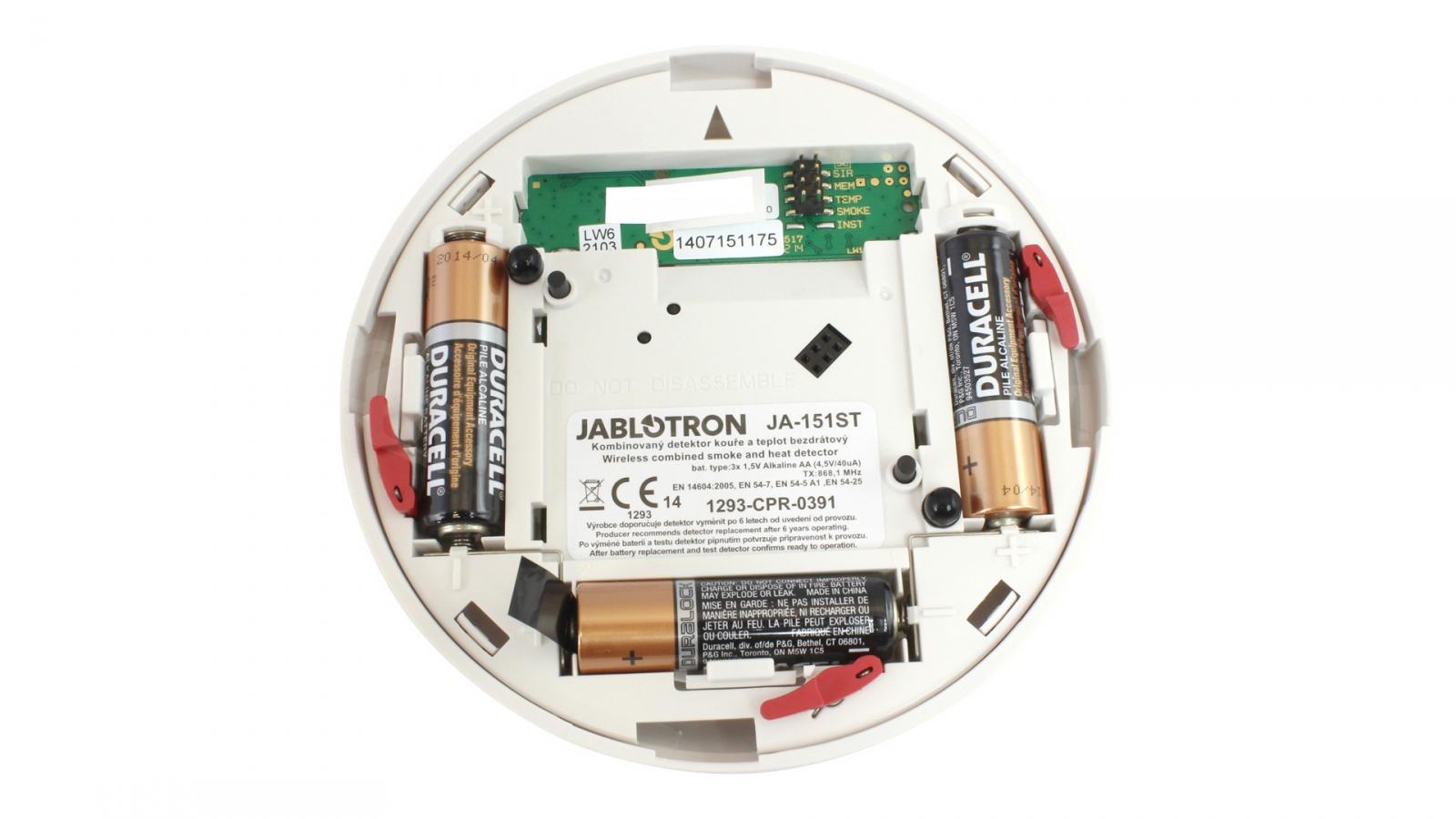 Jablotron Ja 151st Wireless Optical Smoke And Heat Detector