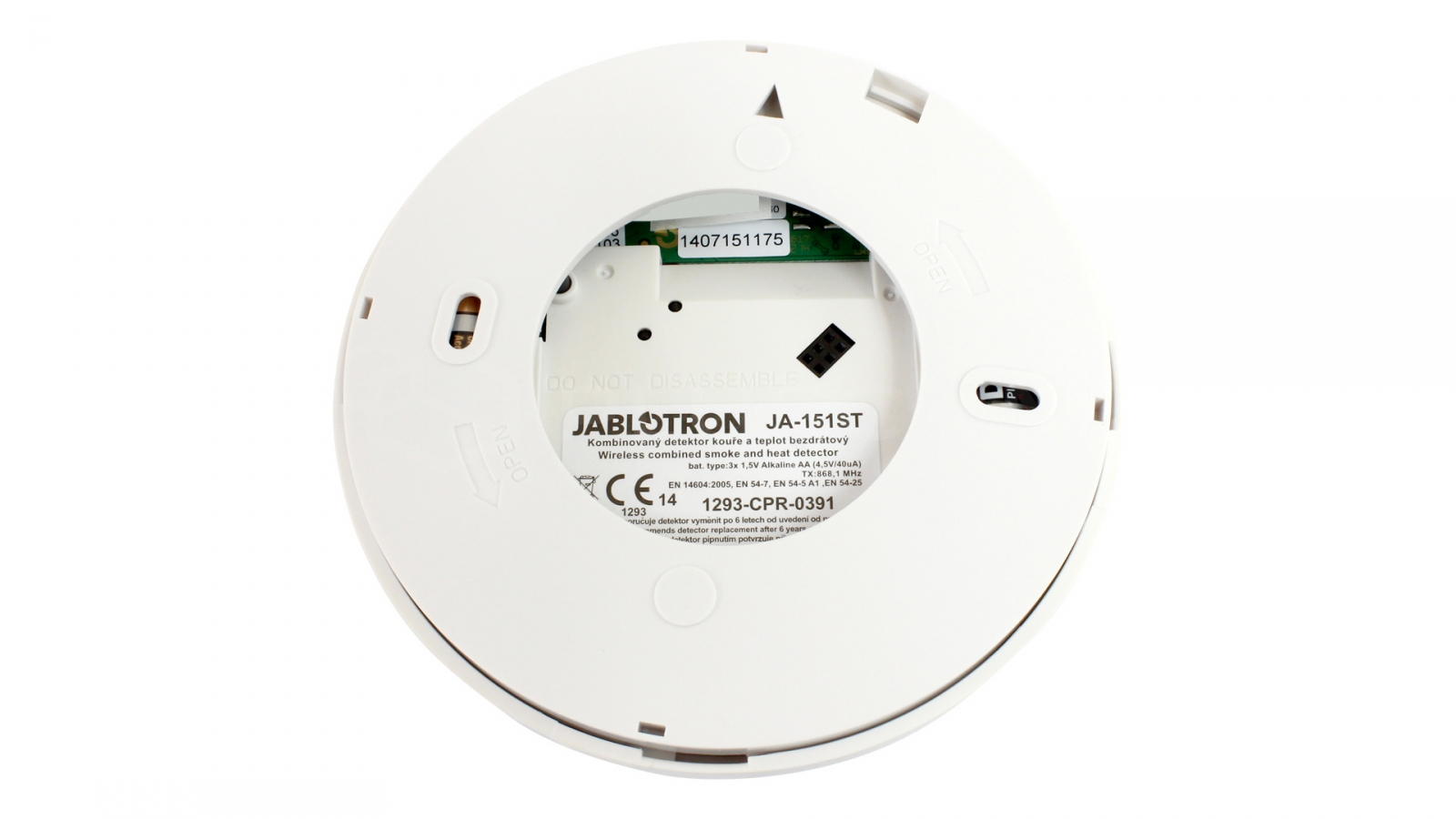 jablotron ja 151st wireless optical smoke and heat detector. Black Bedroom Furniture Sets. Home Design Ideas