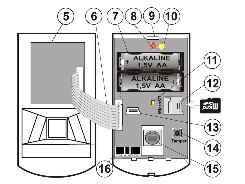 Jablotron Ja 160pc Wireless Pir Motion Detector With A Camera
