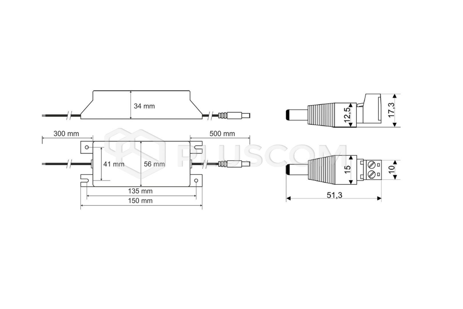Pulsar PSCL480125 48V/1 25A Power supply