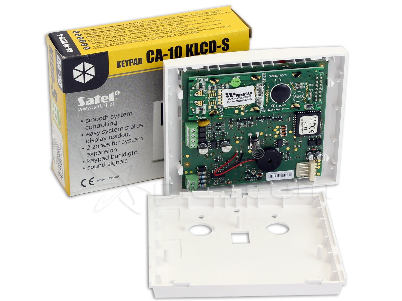 Satel CA-10 KLCD-S LCD Keypad For CA-10 Control Panel
