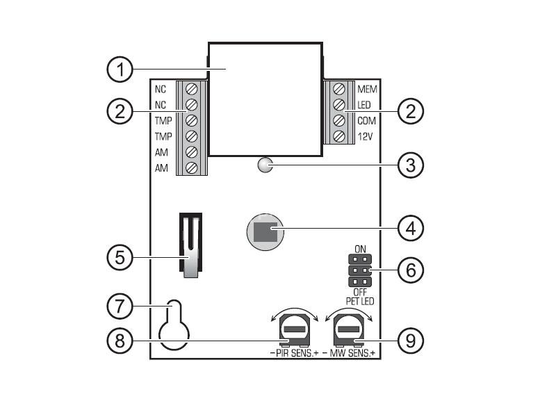 satel grey plus compact dual technology pir mw detector