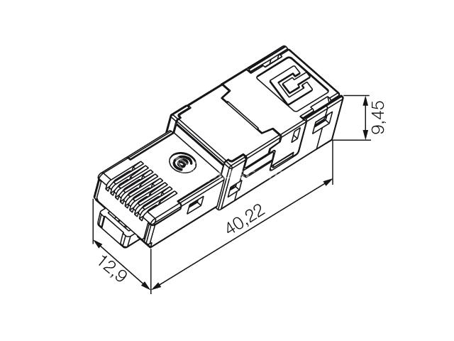 Weidmuller Ie Pi Rj45 Fh Connector For Cat 7 Cable
