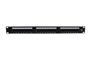 Patch panel UTP 24x 8P8C (RJ45) 1U z płyta